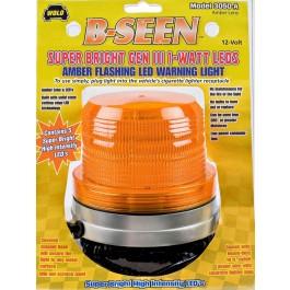 Model 3050-A/REF B-Seen® Amber Lens 12-Volt Magnet Mount