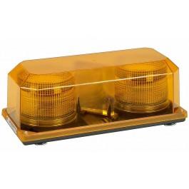 Model 3700M-A Priority® 2 Amber Lens 12-24 Volt Magnet Mount Strobe
