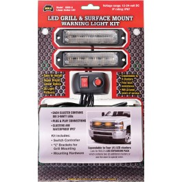 Model 8000-A GRILL & SURFACE MOUNT LED WARNING LIGHTS