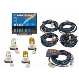Model 8004-2CCAA LIGHTNING®  2 Clear - 2 Amber Strobe bulbs