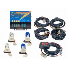 Model 8004-4CCBB  LIGHTNING®  2 Clear - 2 Blue Strobe Bulbs