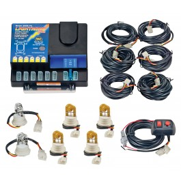 Model 8006-3-2C4A  LIGHTNING® PLUS  2 Clear - 4 Amber Strobe Bulbs