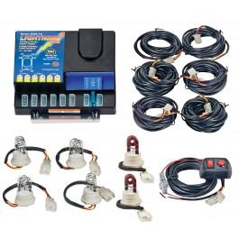 Model 8006-8-4C2R  LIGHTNING® PLUS  4 Clear - 2 Red Strobe Bulbs