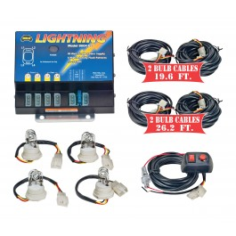 Model 8104XL-1CCCC  LIGHTNING® XL  4 Clear Strobe Bulbs