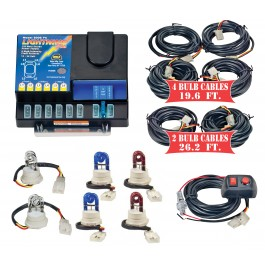 Model 8106XL-11-2C2B2R  LIGHTNING PLUS® XL  2 Clear - 2 Blue - 2 Red Strobe Bulbs