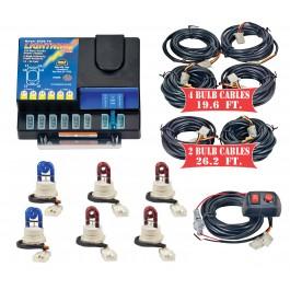 Model 8106XL-12-2B4R  LIGHTNING PLUS® XL  2 Blue - 4 Red Strobe Bulbs