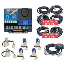Model 8106XL-6-2C4B  LIGHTNING PLUS® XL  2 Clear - 4 Blue Strobe Bulbs