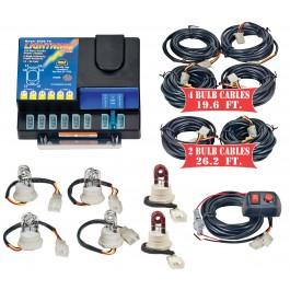 Model 8106XL-8-4C2R  LIGHTNING PLUS® XL  4 Clear - 2 Red Strobe Bulbs