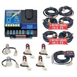 Model 8106XL-9-2C4R  LIGHTNING PLUS® XL  2 Clear - 4 Red Strobe Bulbs