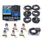 Model 8006-12-2B4R  LIGHTNING PLUS®  2 Blue - 4 Red Strobe Bulbs